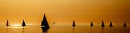 SCHEVENINGEN - Zeilboten in actie tijdens de North Sea Regatta bij Scheveningen. De wedstrijd is onderdeel van dit grootste zeilevenement aan de Nederlandse kust. ANP ROBIN UTRECHT
