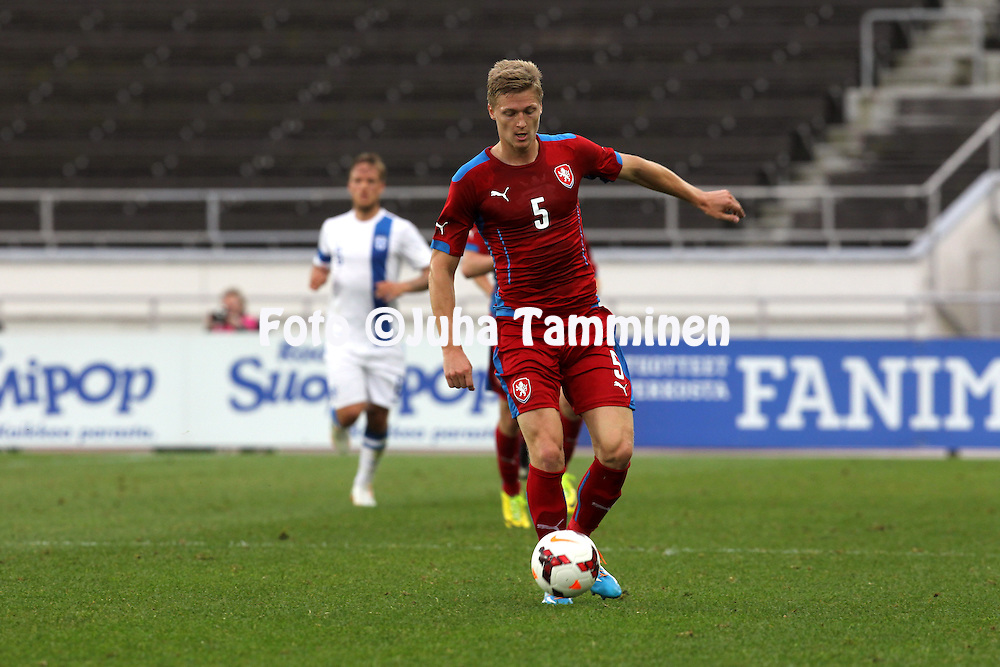21.5.2014, Olympic Stadium, Helsinki, Finland.<br /> Friendly International match Finland v Czech Republic.<br /> Vaclav Prochazka - Czech Rep.