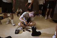 10/22/02--Al Diaz Photos--Boot Camp at The United States Coast Guard Training Center Cape May, NJ, on Tuesday.