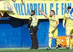 February 3, 2019 - Villarreal, Castellon, Spain - Santiago Cazorla of Villarreal celebrates a goal during the La Liga match between Villarreal and Espanyol at Estadio de la Ceramica on February 3, 2019 in Vila-real, Spain. (Credit Image: © Maria Jose Segovia/NurPhoto via ZUMA Press)