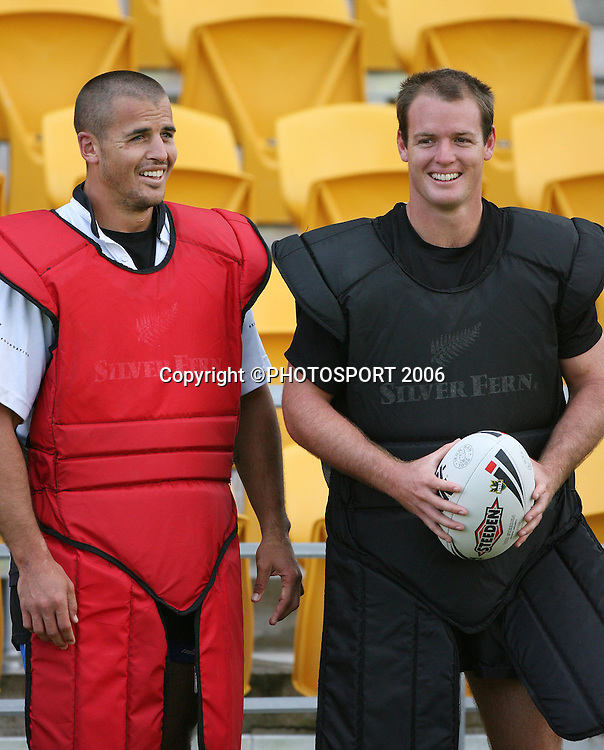 during the Warriors training session held at Ericsson Stadium, Auckland, on Wednesday 8 March, 2006. Photo: Andrew Cornaga/PHOTOSPORT