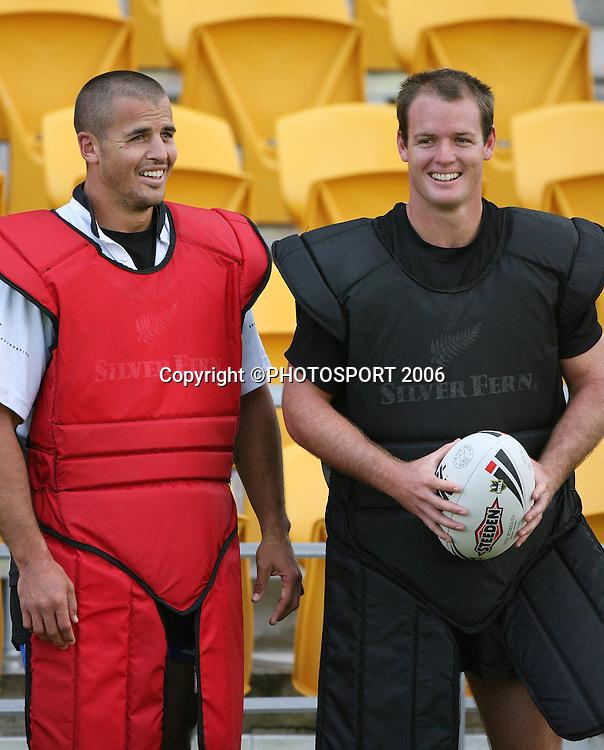 during the Warriors training session held at Ericsson Stadium, Auckland, on Wednesday 8 March, 2006. Photo: Andrew Cornaga/PHOTOSPORT