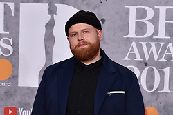 February 20, 2019 - London, United Kingdom of Great Britain and Northern Ireland - Tom Walker arriving at The BRIT Awards 2019 at The O2 Arena on February 20, 2019 in London, England  (Credit Image: © Famous/Ace Pictures via ZUMA Press)