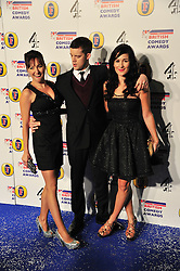 © Licensed to London News Pictures. 16/12/2011. London, England. a guest , Russell Tovey and Sarah Solemani attend the Channel 4 British Comedy Awards  in Wembley London .  Photo credit : ALAN ROXBOROUGH/LNP