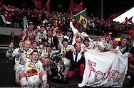 20.10.1996, Pietarsaari, Finland..Veikkausliiga / Finnish League, FF Jaro v FC Jazz Pori.FC Jazz juhlii Suomen mestaruutta..FC Jazz celebrate winning the League championship.©JUHA TAMMINEN