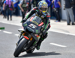 October 26, 2018 - Melbourne, Victoria, Australia - French rider Johan Zarco (#5) of Monster Yamaha Tech 3 leaves his garage during day 2 of the 2018 Australian MotoGP held at Phillip Island, Australia. (Credit Image: © Theo Karanikos/ZUMA Wire)