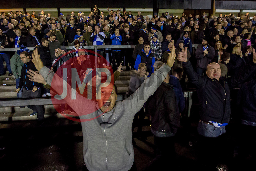 Bristol Rovers fans celebrate their 5-0 win over Northampton Town - Mandatory by-line: Jason Brown/JMP - 07/01/2017 - FOOTBALL - Memorial Stadium - Bristol, England - Bristol Rovers v Northampton Town - Sky Bet League One
