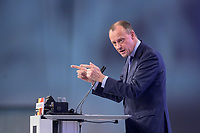 22 NOV 2019, LEIPZIG/GERMANY:<br /> Friedrich Merz, Rechtsanwalt, Lobbyist und ehem.  Vorsitzender der CDU/CSU-Bundestagsfraktion, haelt eine Rede, CDU Bundesparteitag, CCL Leipzig<br /> IMAGE: 20191122-01-217<br /> KEYWORDS: Parteitag, party congress