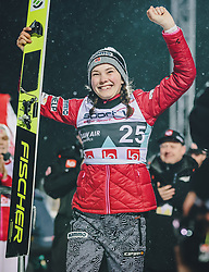 11.03.2020, Lysgards Schanze, Lillehammer, NOR, FIS Weltcup Skisprung, Raw Air, Lillehammer, Damen, Siegerehrung, im Bild Siegerin Silje Opseth (NOR) // winner Silje Opseth of Norway during the winner ceremony for the women's 2nd Stage of the Raw Air Series of FIS Ski Jumping World Cup at the Lysgards Schanze in Lillehammer, Norway on 2020/03/11. EXPA Pictures © 2020, PhotoCredit: EXPA/ Tadeusz Mieczynski