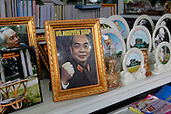 Pictures and plates of Vietnam General Vo Nguyen Giap,in shops of downtown Hanoi, Vietnam<br />  photo by Dennis Brack