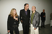 Deborah Orr, Will Self and Marc Quinn, Work by Mexican artist, Gabriel Orozco. Gallery opening & private view at new White Cube space, 25-26 Mason's Yard, London and afterwards at Claridges. London. 27 September 2006. <br /> -DO NOT ARCHIVE-© Copyright Photograph by Dafydd Jones 66 Stockwell Park Rd. London SW9 0DA Tel 020 7733 0108 www.dafjones.com