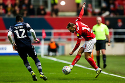Andi Weimann of Bristol City is challenged by Mahlon Romeo of Millwall - Rogan/JMP - 10/12/2019 - Ashton Gate Stadium - Bristol, England - Bristol City v Milwall FC - Sky Bet Championship.