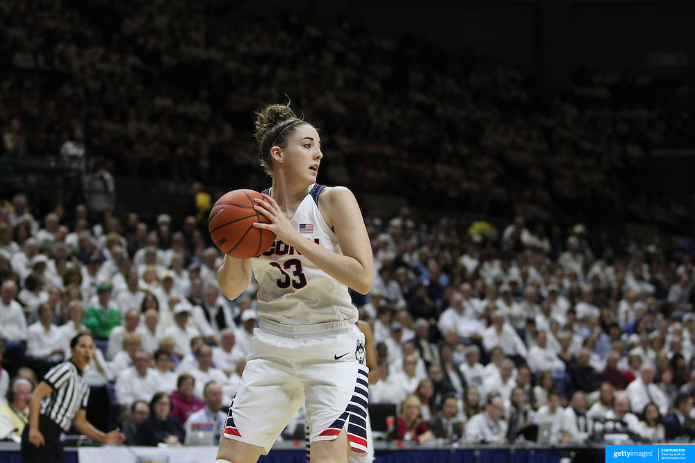 Katie Lou Samuelson, UConn, in action during the Notre Dame Vs UConn Women's Basketball game at Grampel Pavilion, Storrs, Connecticut, USA. 5th December 2015. Photo Tim Clayton