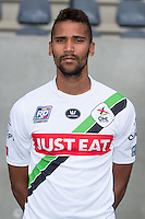 OHL's Kevin Tapoko pictured during the 2015-2016 season photo shoot of Belgian first league soccer team OH Leuven, Monday 13 July 2015 in Leuven.
