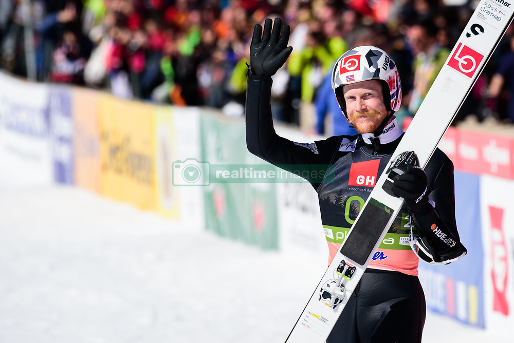 March 23, 2019 - Planica, Slovenia - Robert Johansson of Norway in action during the team competition at Planica FIS Ski Jumping World Cup finals  on March 23, 2019 in Planica, Slovenia. (Credit Image: © Rok Rakun/Pacific Press via ZUMA Wire)