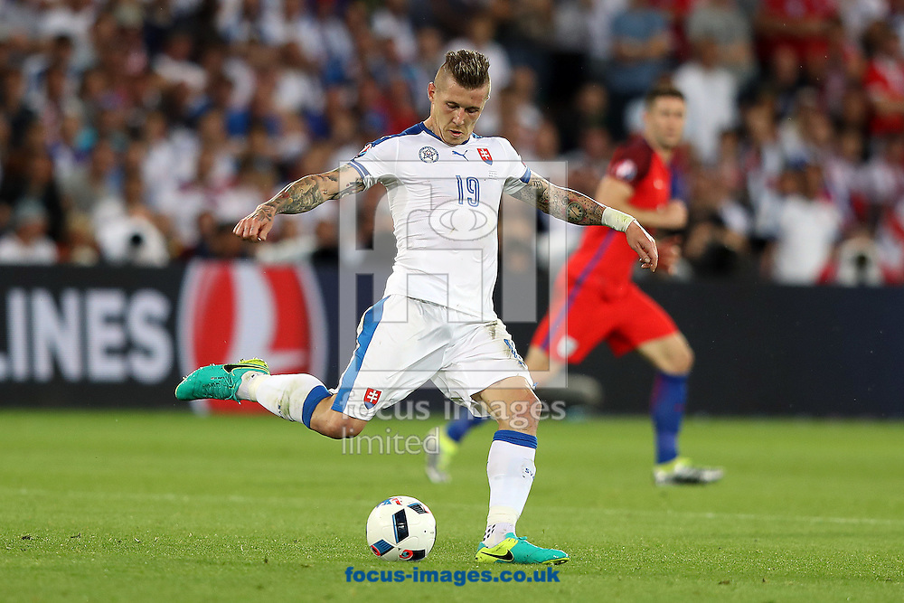 Juraj Kucka of Slovakia during the UEFA Euro 2016 match at Stade Geoffroy-Guichard, Saint-Etienne<br /> Picture by Paul Chesterton/Focus Images Ltd +44 7904 640267<br /> 13/06/2016