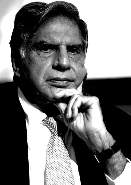 Ratan Tata .Chairman of Tata Sons and major Group companies, including Tata Motors, Tata Steel, Tata Consultancy Services, Tata Power, Tata Tea, Tata Chemicals, Indian Hotels, Tata Teleservices and Tata AutoComp.