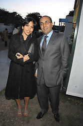 SANJAY HINDUJA eldest son of Gopichand Hinduja and PANTHEA ANSARI at a reception at the gold medal winning De Beers garden in aid of the KT Wong Charitable Trust at the 2nd day of the 2008 Chelsea Flower show on 20th May 2008.<br /><br />NON EXCLUSIVE - WORLD RIGHTS