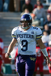 29 October 2005: Leatherneck Quarterback Steve Lafalce. With a final score of 31 - 17, Western Illinois University Leathernecks collared the Illinois State University Redbirds knocking them from their 18th ranked perch at Hancock Field on Illinois State's campus in Normal IL