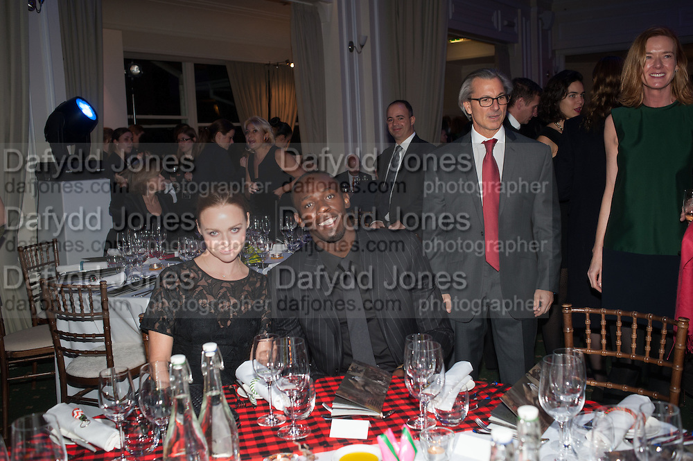 STELLA MCCARTNEY; USAIN BOLT; DAVID GIAMPAOLO  Fundraising Gala for the Zeitz foundation and Zoological Society of London hosted by Usain Bolt. . London Zoo. Regent's Park. London. 22 November 2012.