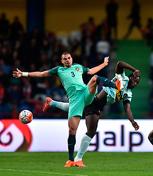 Portugal's Pepe (L) vies with Belgium's Lukaku during a friendly soccer match betweem Portugal and Belgium in preparation for Euro 2016 in France at Leiria Municipal Stadium, Portugal, on March 29, 2016. Portugal won 2-1. EXPA Pictures © 2016, PhotoCredit: EXPA/ Photoshot/ Zhang Liyun<br /> <br /> *****ATTENTION - for AUT, SLO, CRO, SRB, BIH, MAZ, SUI only*****