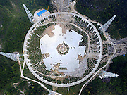 PINGTANG, CHINA - NOVEMBER 26: (CHINA OUT) <br /> <br /> World's Largest Radio Telescope Under Construction<br /> <br /> The feed supporting system of the five-hundred-metre Aperture Spherical Radio Telescope (FAST) is under test on November 26, 2015 in Pingtang County, Guizhou Province of China. The construction will be completed in September 2016.<br /> ©Exclusivepix Media