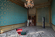 """VENICE, ITALY..50th Biennale of Venice.ZENOMAP, new Scottish artists at Palazzo Giustinian-Lolin..""""low scenic"""" by Clare Barclay..(Photo by Heimo Aga)"""