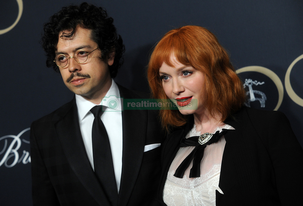 Geoffrey Arend and Christina Hendricks attending Brooks Brothers Bicentennial Celebration At Jazz At Lincoln Center, New York City, NY, USA, on April 25, 2018. Photo by Dennis Van Tine/ABACAPRESS.COM