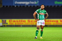 Monty Ioane of Benetton Treviso<br /> <br /> Photographer Craig Thomas/Replay Images<br /> <br /> Guinness PRO14 Round 4 - Ospreys v Benetton Treviso - Saturday 22nd September 2018 - Liberty Stadium - Swansea<br /> <br /> World Copyright © Replay Images . All rights reserved. info@replayimages.co.uk - http://replayimages.co.uk