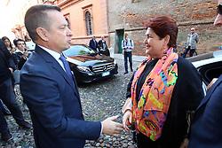 PREFETTO MICHELE CAMPANARO COL MINISTRO<br /> MINISTRO TERESA BELLANOVA IN PREFETTURA A FERRARA