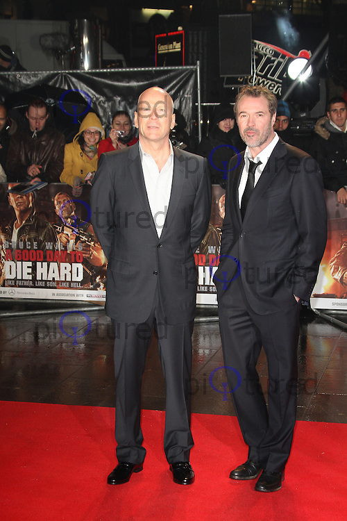 Bruce Willis; Sebastian Koch, A Good Day To Die Hard - UK Film Premiere, Empire Cinema Leicester Square, London UK, 07 February 2013, (Photo by Richard Goldschmidt)
