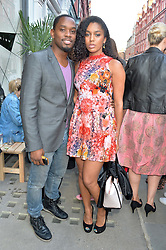 AML AMEEN and PORTIA FRENO  at the Prism Boutique Summer Party held at Prism, 54 Chiltern Street, London on 14th May 2014.