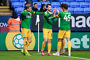 Preston North End forward Tom Barkhuizen (29) celebrates putting his side 2-0 up  during the EFL Sky Bet Championship match between Bolton Wanderers and Preston North End at the University of  Bolton Stadium, Bolton, England on 9 February 2019.
