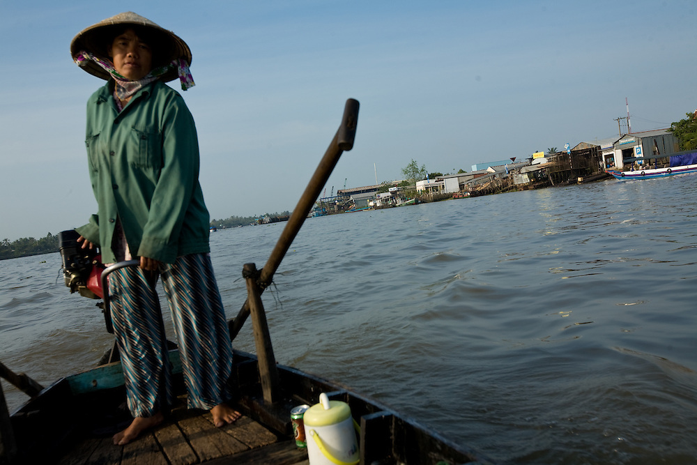 The Mekong Delta is a huge region in Southern Vietnam. With its fertile land and water it is an essential region to produce rice, fruits, vegatables, fish amongst others. The Delta is also popular for tourists who are attracted by the water landscapes and ethnic diversity of the region.