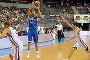 LETTONIA  QUALIFICAZIONI EUROPEE 2011<br /> RIGA 05.08.2010<br /> PARTITA LETTONIA ITALIA <br /> NELLA FOTO STEFANO MANCINELLI