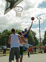 3 on 3 Bob Dearborn Memorial Basketball Tournament at Wyatt Park in Laconia July 21, 2012.  Karen Bobotas/for the Laconia Daily Sun