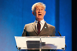 © Licensed to London News Pictures.  28/01/2013. LONDON, UK. Historian Simon Schama (pictured) speaks at the Holocaust Memorial Day 2013 UK Commemoration event held today in the QE2 conference centre. The annual event is held to remember genocides across the globe including the holocaust, Bosnia, Cambodia, Rwanda and Darfur.  Photo credit :  Cliff Hide/LNP