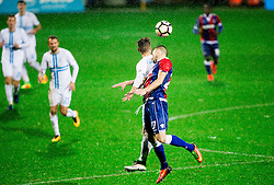 Marko Vesovic of HNK Rijeka vs Hysen Memolla of HNK Hajdu during football match between HNK Rijeka and HNK Hajduk Split in Round #15 of 1st HNL League 2016/17, on November 5, 2016 in Rujevica stadium, Rijeka, Croatia. Photo by Vid Ponikvar / Sportida