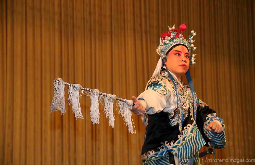 Asia, China, Beijing. Beijing Opera Performer in costume.