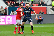 Stuart Dallas (15) of Leeds United during the EFL Sky Bet Championship match between Bristol City and Leeds United at Ashton Gate, Bristol, England on 9 March 2019.