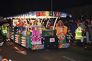 Game on by Fusion Carnival Club at the 2011 Bridgwater Carnival. Bridgwater Carnival is an annual event to raise money for local charities. It is widely reputed to be the largest illuminated carnival in the world.