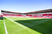 A general view of bet365 Stadium before the EFL Sky Bet Championship match between Stoke City and Leeds United at the Bet365 Stadium, Stoke-on-Trent, England on 24 August 2019.