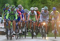 First group climbing to Krvavec (Franco Pellizotti of Italia (Liquigas), Andrea Noe of Italia (Liquigas), Simon Spilak of Slovenia (Lampre), Robert Kiserlovski of Croatia Adria Mobil), Matija Kvasina of Croatia (Perutnina Ptuj), Jure Golcer of Slovenia (LPR Brakes)) during 3rd stage of the 15th Tour de Slovenie from Skofja Loka to Krvavec (129,5 km) , on June 13,2008, Slovenia. (Photo by Vid Ponikvar / Sportal Images)/ Sportida)