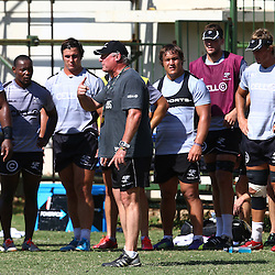 DURBAN, SOUTH AFRICA, January 18,2016 - Gary Gold (Sharks Director of Rugby) during The Cell C Sharks Pre Season training for the 2016 Super Rugby Season at Growthpoint Kings Park in Durban, South Africa. (Photo by Steve Haag)<br /> images for social media must have consent from Steve Haag