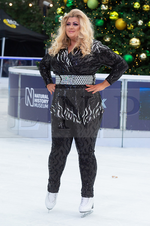 © Licensed to London News Pictures. 18/12/2018. London, UK. Gemma Collins attends a photocall for the launch of ITV's Dancing On Ice new series. Photo credit: Ray Tang/LNP