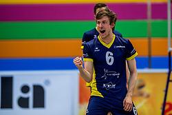 03-02-2018 NED: Talent Team - Inter Rijswijk, Arnhem<br /> Talent Team wint vrij eenvoudig met 3-0 van Rijswijk / Harm Houwink #6 of Rijswijk