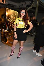 Bip Ling at the LFW Sponge Bob Gold presentation at The Atrium, The Store Studios, 180 The Strand, London England. 18 February 2017.