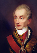 Prince Klemens von Metternich 1773 – 1859. German-born Austrian politician and statesman. Portrait of Prince Metternich  circa 1835