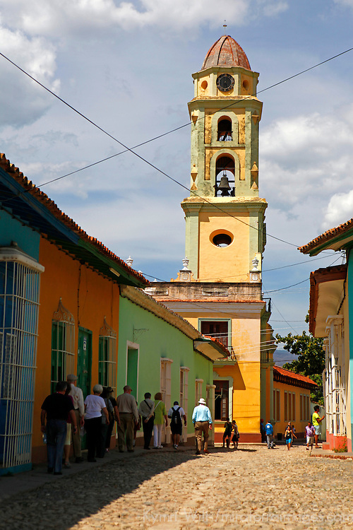 Central America, Cuba, Trinidad. Bell Tower of Iglesia y Convento de San Francisco, Trinidad, Cuba.