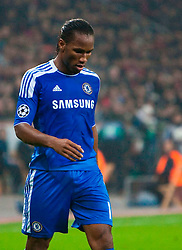 23.11.2011, BayArena, Leverkusen, Germany, UEFA CL, Gruppe E, Bayer 04 Leverkusen (GER) vs Chelsea FC (ENG), im Bild Chelsea's Didier Drogba looks dejected as his side are defeated 2-1 by Bayer Leverkusen during the football match of UEFA Champions league, group E, between Bayer Leverkusen (GER) and FC Chelsea (ENG) at BayArena, Leverkusen, Germany on 2011/11/23. EXPA Pictures © 2011, PhotoCredit: EXPA/ Sportida/ David Tickle..***** ATTENTION - OUT OF ENG, GBR, UK *****